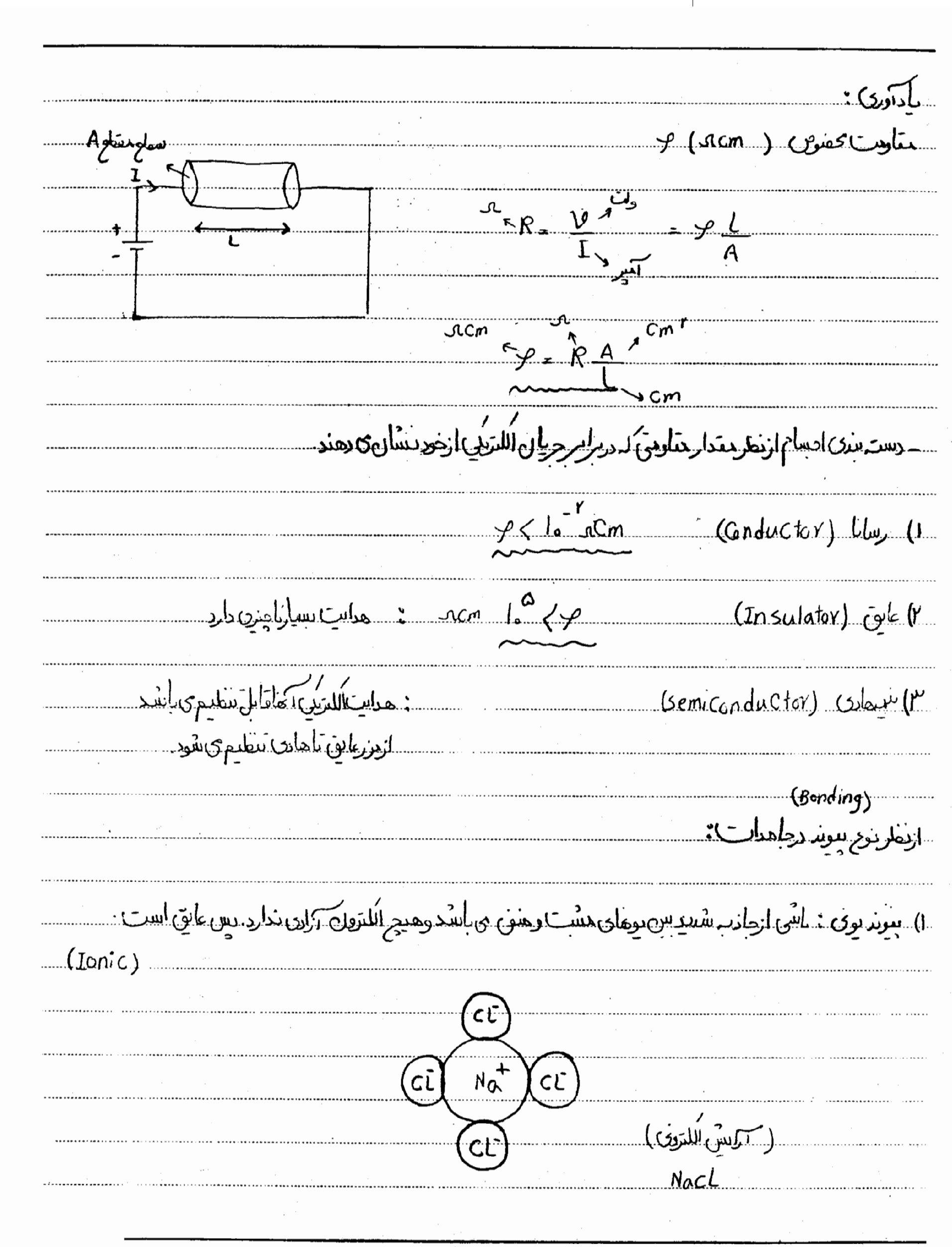 جزوه فیزیک الکترونیک